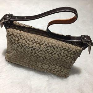 Coach Tan Canvas Mini Bag